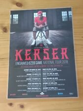 KERSER -  2018 Australia Tour -  ENGRAVED IN THE GAME - Laminated Tour Poster