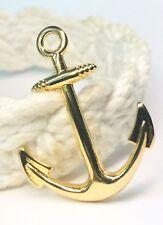 Anchor Gold Plated on Zamak Hand Made Charm Pendant Marine bracelet Jewelry #236