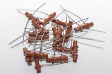 8x Vintage Keramik Rohr-Kondensator für Röhren-Radios, 470 pF = 0.47 nF, NOS