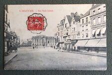 CPA. BEAUVAIS. 60 - Rue Sadi Carnot. 1908. Café André. Voitures Enfants.