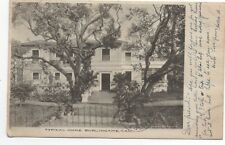 1910 Postcard of Large Mansion at Burlingame San Mateo County CA