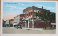 Carbondale, IL 1930s Postcard: First National Bank Building - Illinois Ill