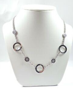 Bulgari Necklace 18 carat white gold diamonds reversible