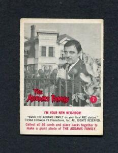 Original 1964 The Addams Family TV Show Donruss Trading Card #7 Gomez Neighbor