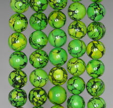 10MM GREEN TURQUOISE GEMSTONE LIME ROUND 10MM LOOSE BEADS 16""