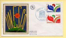 FDC n° 56/57 - Timbre de Service UNESCO – 75 Paris 14/10/1978 (soie)