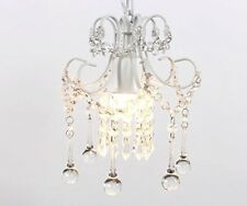 Elegant Vintage Crystal Chandelier Lighting Mini Rustic Ceiling Pendant Light