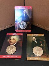 Lot Of Three President Dollars.   Washington, Adams And Lincoln