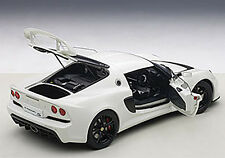 Autoart LOTUS EXIGE S WHITE COMPOSITE MODEL 3 OPENINGS 1/18 Scale In Stock! New!