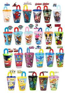 New Design Kids Character Sports Tumbler 430ML Drinking Plastic Cup With Straw