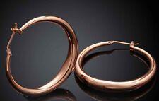 Rose Gold Colour Hoops Balees Earrings Drops Elegant Classic Christmas Gift UK