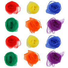24x 6 Farben Jongliertücher Gymnastiktücher Tanztücher Seidentücher Chiffon 2017