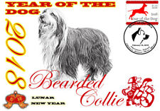 BEARDED COLLIE 2018 YEAR OF THE DOG STAMP SOUVENIR COVER