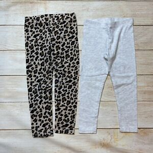 Toddler Girls 3-4T Cotton Leggings Leopard Childrens Place & Grey Primark