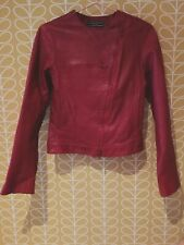 Joseph Red Leather Coat  Small
