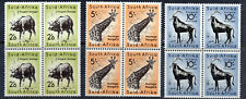 SOUTH AFRICA 1954 Wildlife High Values BLOCKS OF FOUR SG 162 to SG 164 MINT