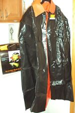 "Halloween Vampire Cape Reversible RED BLACK Vinyl 46"" NEW!"