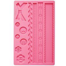 Stampo silicone fantasia bottone Wilton per fondente decorare decoro dolci Rotex