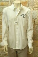 Moschino Jeans Authentic Men's 98% Cotton White Shirt XL Free Shipping New w Tag
