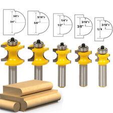 """5 Bit Bullnose Router Bit Set - 1/2"""" Shank Woodworking Cutter Power Tool UK SHIP"""