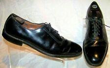 ALLEN EDMONDS Belgium 7304 Black Leather Plain Toe Oxford Men's Dress Shoes 12AA