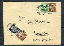 Bedarfsbrief DR Hindenburg MiF Zusammendrucke Dortmund-Saarbrücken - b4160