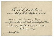 King George VI & Queen Elizabeth Buckingham Invite
