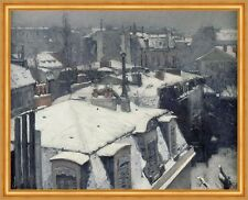 Rooftops in the Snow, snow effect Gustave Caillebotte Stadt Winter B A1 02159