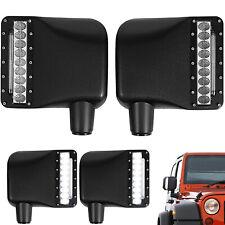 2Pcs Xprite LED Turn Signal Side Mirror Light Housing for 07-18 Jeep Wrangler JK