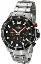 Accurist 7051 Chronograph All Stainless Steel WR 50M Watch 2 Year Guar RRP £149