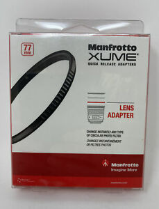 NEW Manfrotto XUME 77mm Quick Release Magnetic Lens Adapter