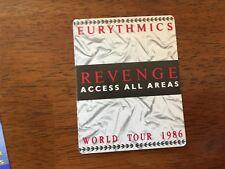 Eurythmics - Revenge All Access Pass - World Tour 1986