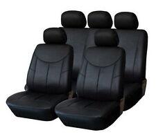 Piel sintética-cuero funda del asiento ya referencias auto referencias asiento negro-audi a4 b6/b7