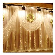 300 LED Christmas xmas String Fairy Wedding Curtain Light Warm White 3x3M