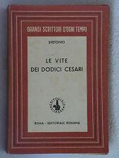 Le vite dei dodici Cesari - Svetonio - Ed.Romana (X30)