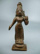 Antique Indian Bronze Statuette  Hindu Goddess - Mother of Krishna Yoshoda #1 BR