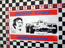 Jochen Rindt Memorial ventana calcomanía para Europa Eclat Elite Elan Esprit
