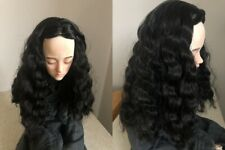 wig wavy mohair for bjd doll 6-7'' MSD 1/4 1/6 doll black