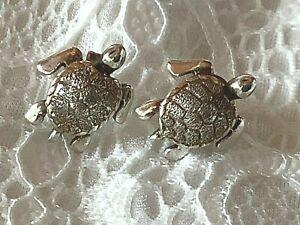 Sterling Silver Hawaiian Turtle Stud Earrings