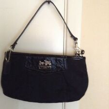 Coach Madison Op Art Signature Black Large Clutch/ Wristlet