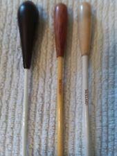 "Qty 3 Mollard Conductors Batons & Case Two 12""' & One 15"""
