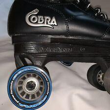 Cobra Roller Derby Black Speed Skates Size Us M's 9 Power Formula Wheels