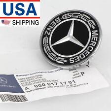 OEM Mercedes Benz Hood Black Flat Laurel Wreath Badge Emblem 0008171701