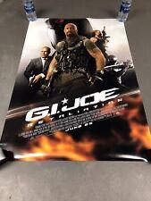G.I. Joe: Retaliation Original Double Sided Movie Poster 27X40 The Rock
