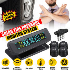 Tire Pressure Monitor System Tpms Solar Power Lcd Display Withhd 4 External