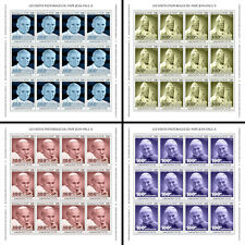 More details for niger pope john paul ii stamps 2020 mnh popes famous people 4x 12v m/s