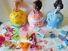 3 Marvel /Toy Biz Cupcake dolls 2000 + accessories lot 50 pieces +/-_