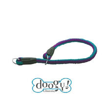 Collier pour chien nylon fluo turquoise et violet 45 CM
