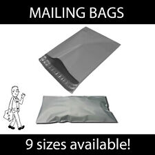 More details for strong grey mailing bags postal mail self seal bags various sizes & quantities