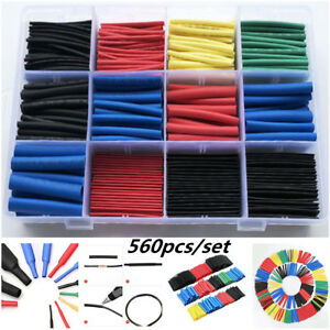 560pcs Heat Shrink Sleeves Tube Assorted Cable Wire Wrap Electric Insulation Kit